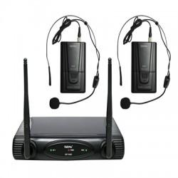 RADIOMICROFONO DOPPIO VHF SET 6082LAV-A